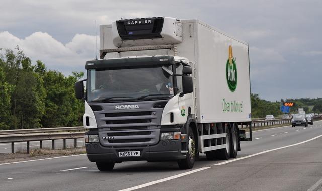 UK Lorry on a motorway