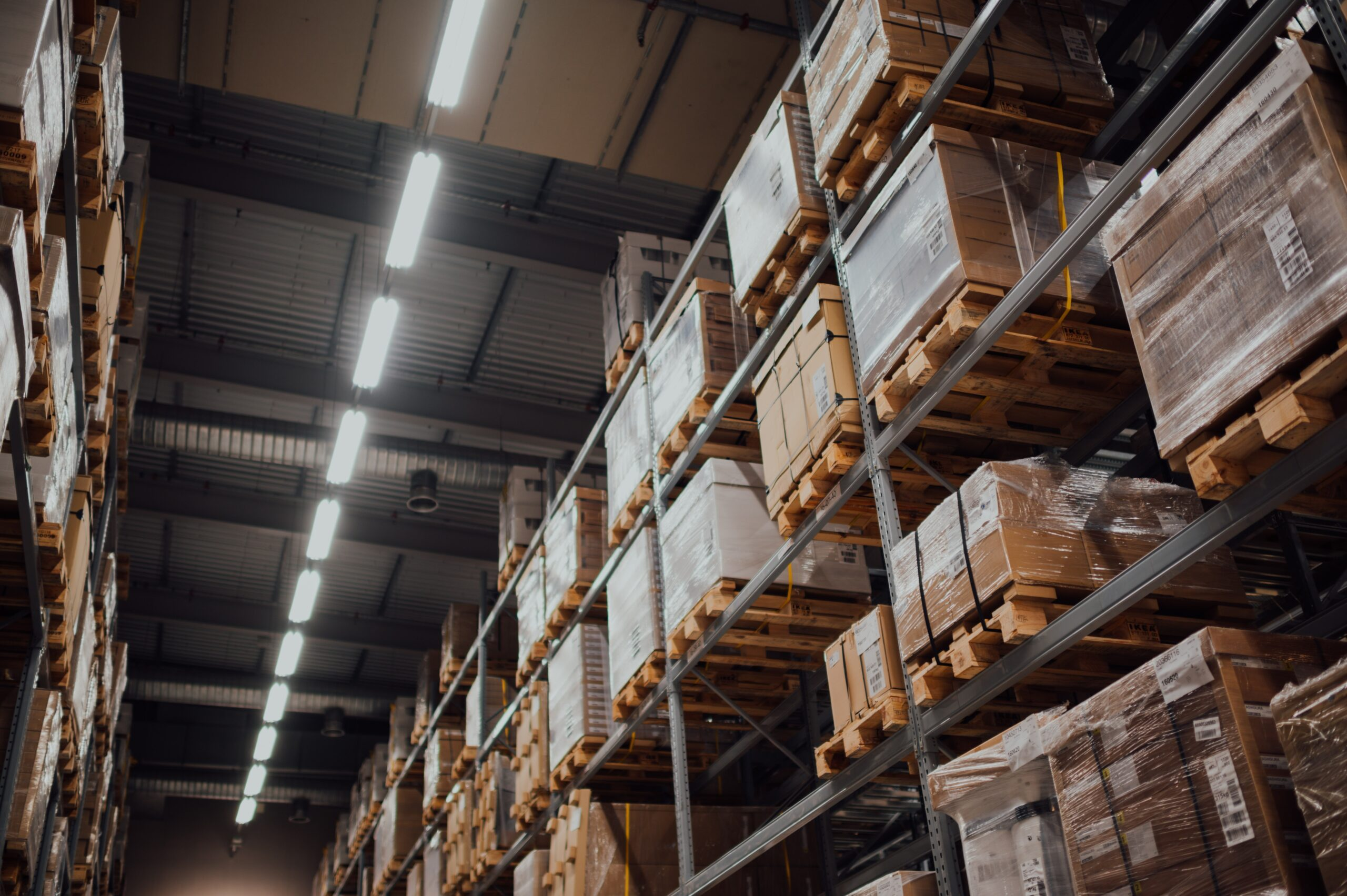 image of warehouse filled with pallets