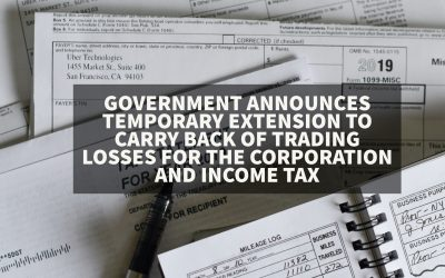 Government's new temporary extension to carry back of trading losses for the corporation and income tax